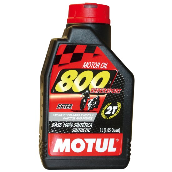 Aceite y Spray MOTUL    800 2T 1L.