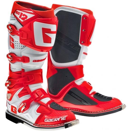 Stiefel GAERNE SG12 White / Red