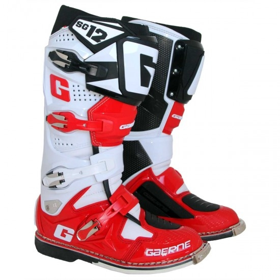 GAERNE SG12 White / Red / Black Boots