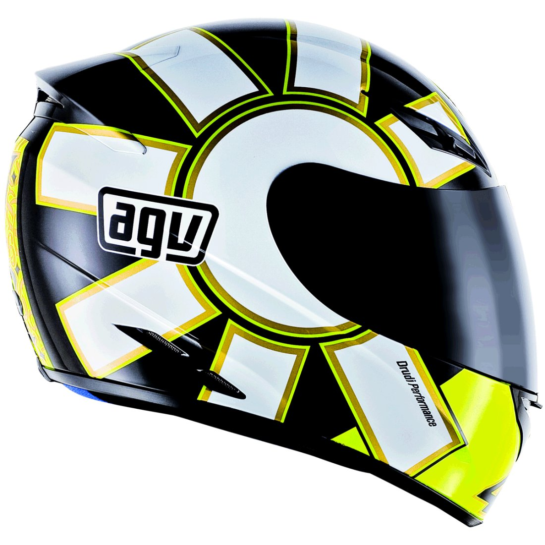 agv k 3 rossi gothic 46 black helmet motocard. Black Bedroom Furniture Sets. Home Design Ideas