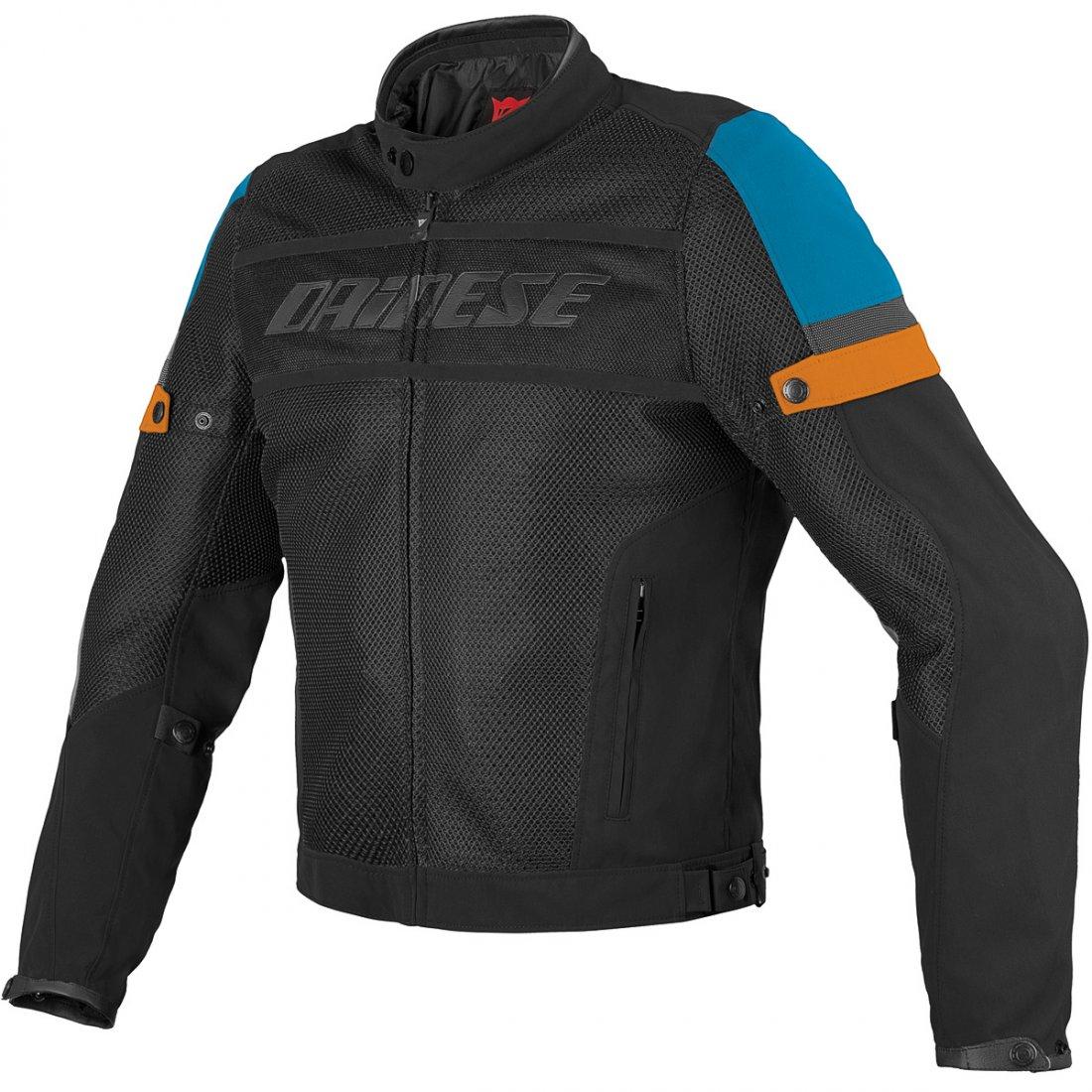 Dainese Air Frame Tex Black Blue Orange Jacket 183 Motocard
