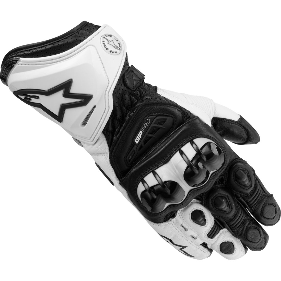 alpinestars gp pro black white gloves motocard. Black Bedroom Furniture Sets. Home Design Ideas