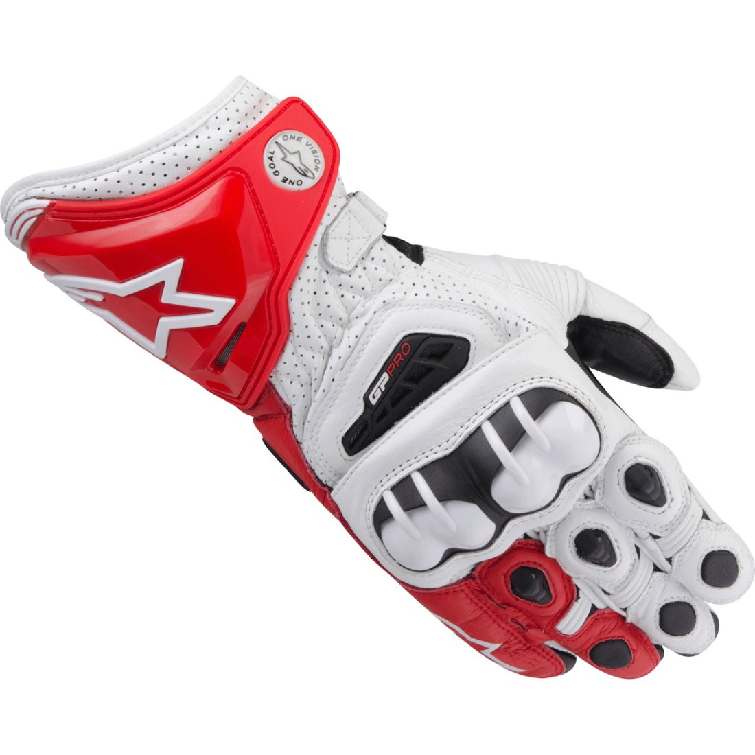 alpinestars gp pro white red gloves motocard. Black Bedroom Furniture Sets. Home Design Ideas