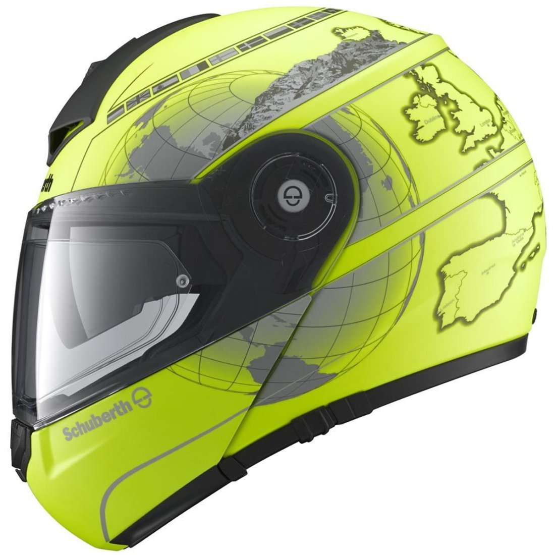 schuberth c3 pro europe fluo yellow helmet motocard. Black Bedroom Furniture Sets. Home Design Ideas