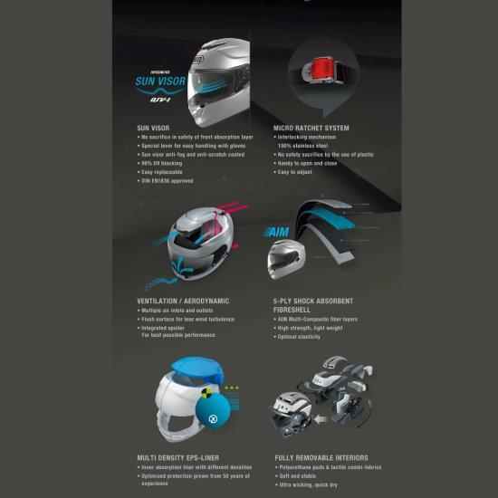 Helm SHOEI GT-Air Light Silver