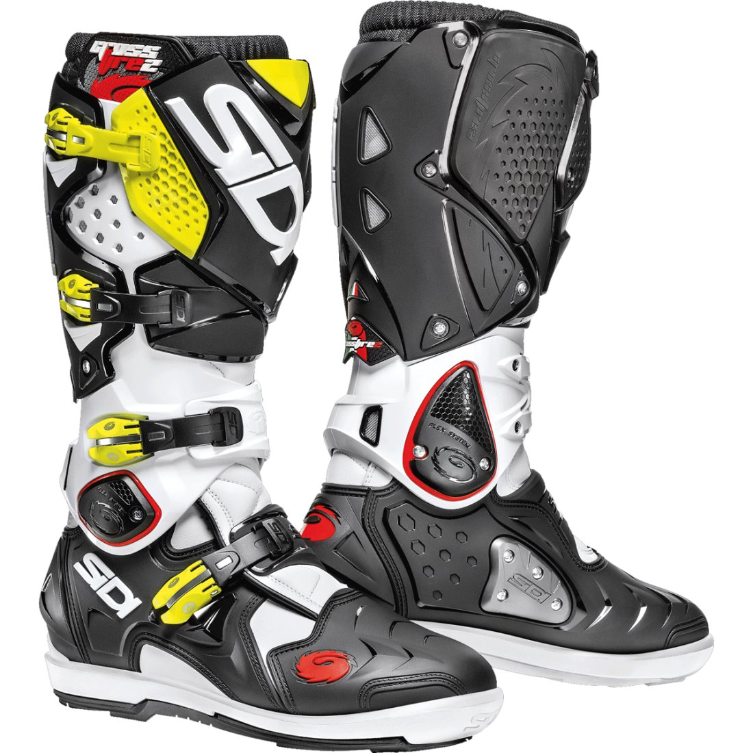 SIDI CROSSFIRE 2 SRS White Black Yellow Fluo Boots
