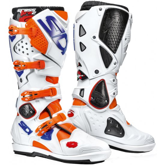 Stivale SIDI Crossfire 2 SRS Orange Fluo / White / Blue