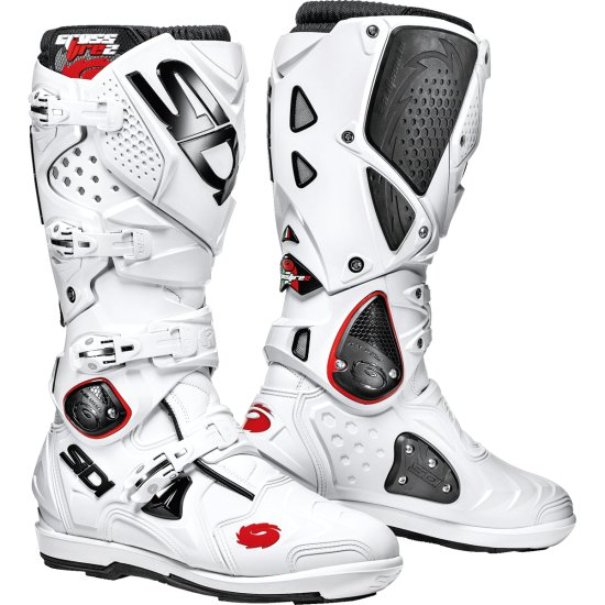 bottes sidi crossfire 2 srs white motocard. Black Bedroom Furniture Sets. Home Design Ideas