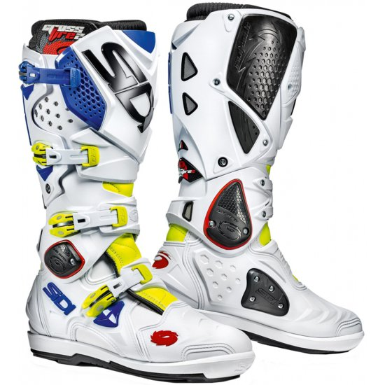 SIDI Crossfire 2 SRS Yellow Fluo / White / Blue Boots