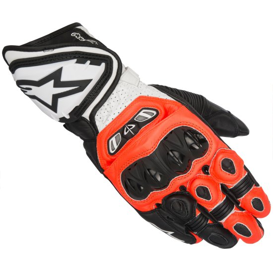 ALPINESTARS GP Tech Black / Red Fluo / White Gloves
