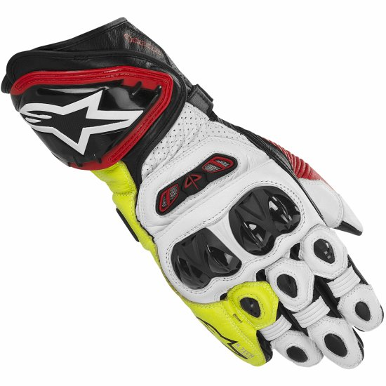 Luvas ALPINESTARS GP Tech Black / White / Red / Yellow fluo