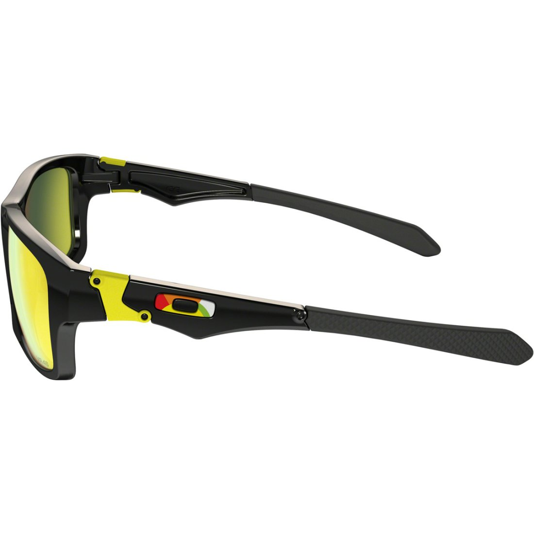 1014430866225 OAKLEY Jupiter Squared Valentino Rossi Exclusive Collection Polished Black    Fire Iridium Sun glasses