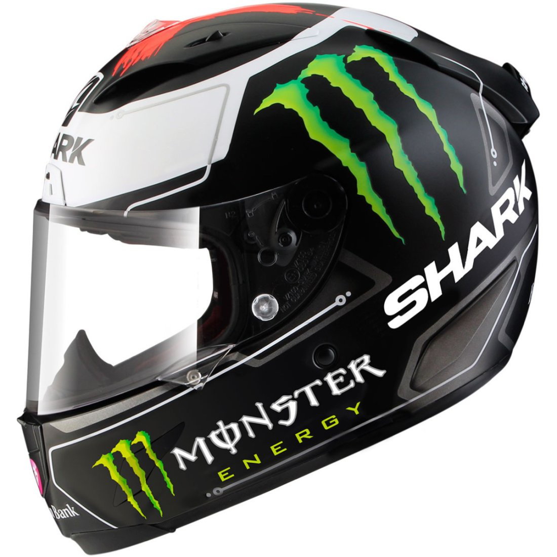 Casco Shark Race R Pro Lorenzo Monster Mat Kwr 183 Motocard