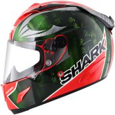 SHARK Race-R Pro Sykes Red / Green / Chrome
