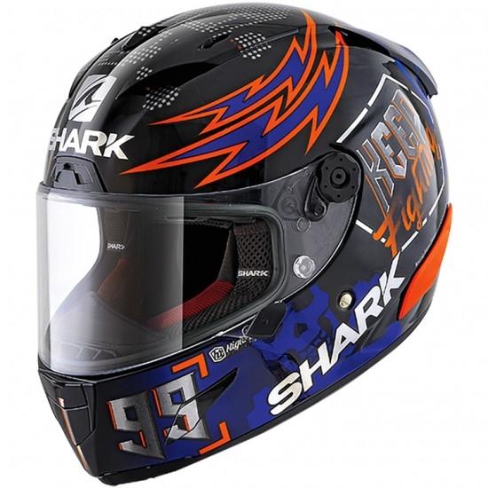 Casco SHARK Race-R Pro Replica Lorenzo Catalunya GP 2019 Black / Red / Blue