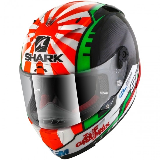 Casque SHARK Race-R Pro Replica Zarco 2017 Black / Red / Green