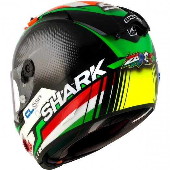 Casco SHARK Race-R Pro Replica Zarco 2017 Black / Red / Green