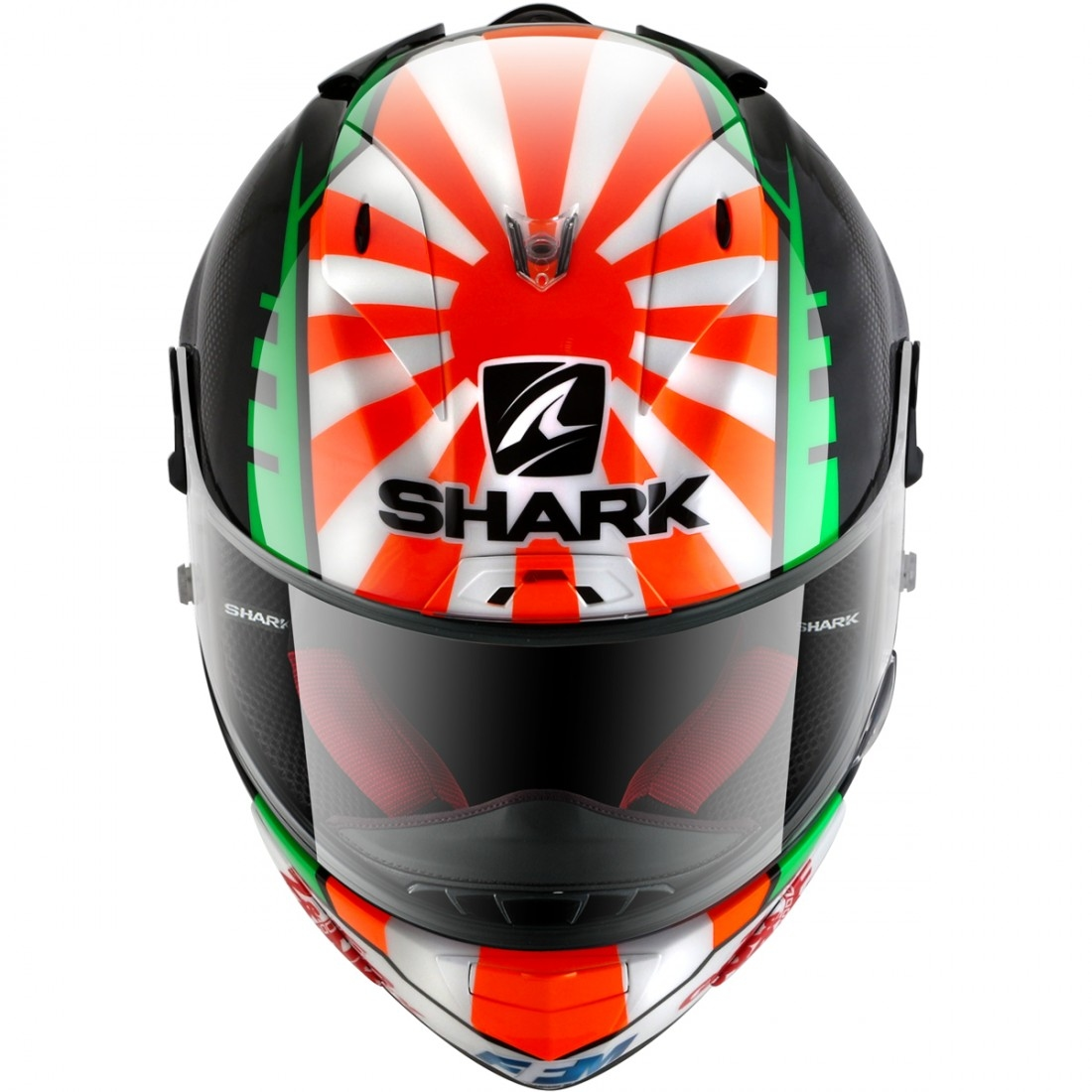 casque shark race r pro replica zarco 2017 black red green motocard. Black Bedroom Furniture Sets. Home Design Ideas