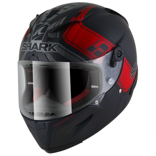 Casco SHARK Race-R Pro Replica Zarco GP de France Mat Black / Anthracite / Red