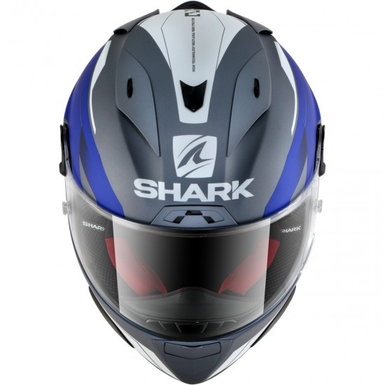 Casque SHARK Race-R Pro Sauer Mat Anthracite / White / Blue