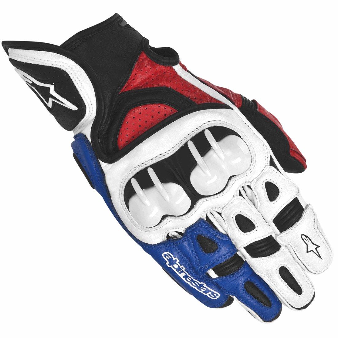 Handschuh ALPINESTARS GP X White Red Blue
