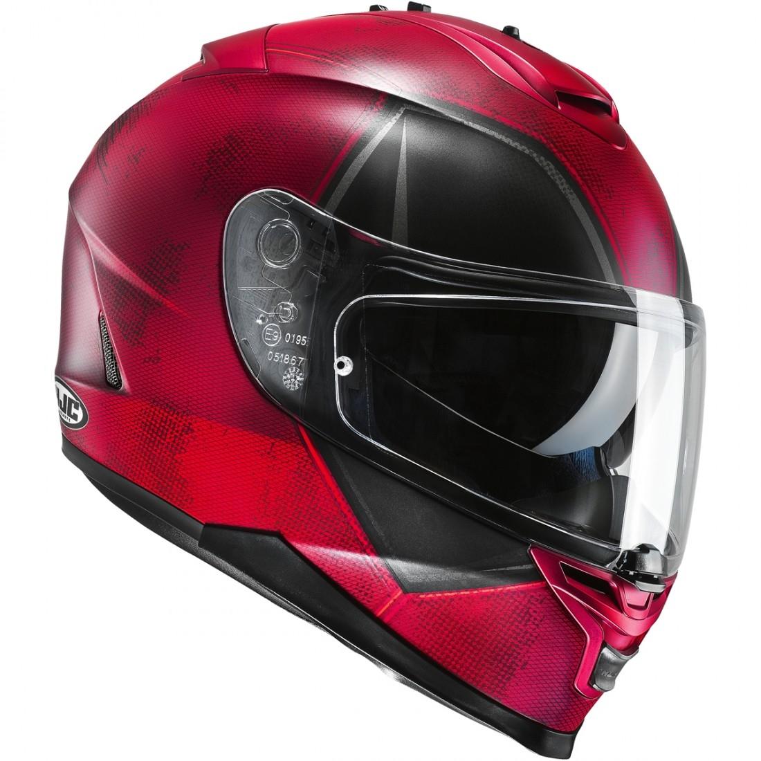 hjc is 17 deadpool helmet motocard. Black Bedroom Furniture Sets. Home Design Ideas