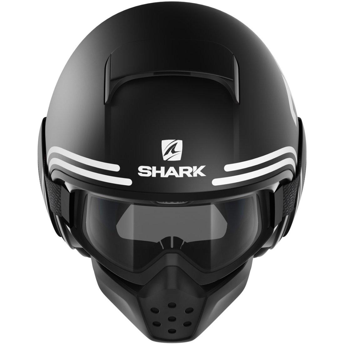 casque shark drak 72 mat black white orange motocard. Black Bedroom Furniture Sets. Home Design Ideas