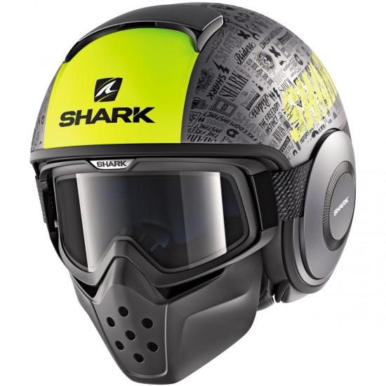 Capacete SHARK Drak Tribute RM Mat Anthracite / Yellow / Black