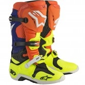 ALPINESTARS Tech 10 Orange Fluo / Blue / White / Yellow Fluo