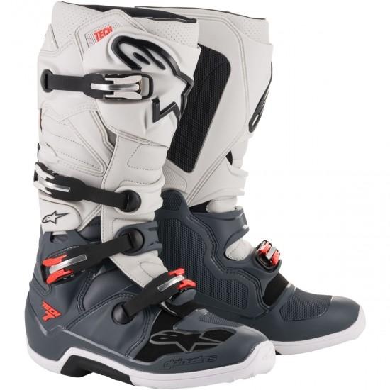 ALPINESTARS Tech 7 Dark Grey / Light Grey / Red Fluo Boots