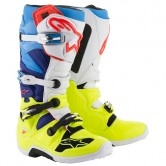 ALPINESTARS Tech 7 Yellow Fluo / White / Blue / Cyan