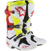 ALPINESTARS Tech 10 White / Red / Yellow Fluo