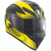 AGV K-3 SV Glimpse Black Metal / Yellow