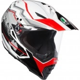 AGV AX-8 Dual Evo Earth White / Black / Red