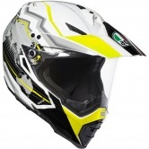 AGV AX-8 Dual Evo Earth White / Black / Yellow Fluo