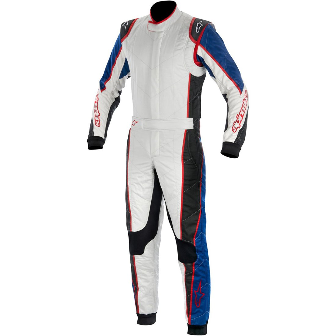 combinaison alpinestars gp tech 2015 silver blue red motocard. Black Bedroom Furniture Sets. Home Design Ideas