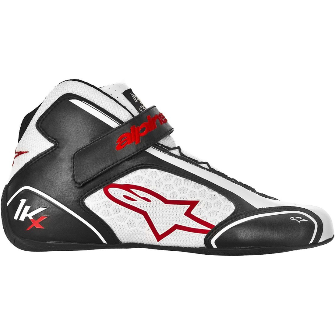 alpinestars tech 1 kx black white red shoe motocard. Black Bedroom Furniture Sets. Home Design Ideas