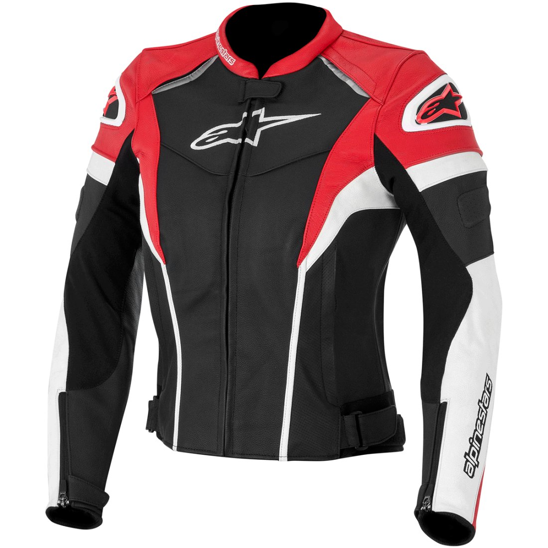 R Blouson Stella Plus GP ALPINESTARS Black Motocard Red White Lady · rqqf4Iwx