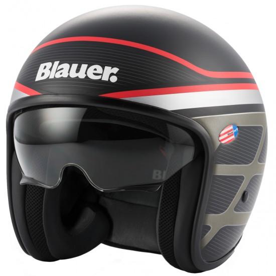 BLAUER Pilot 1.1 Graphic B Matt Black Helmet