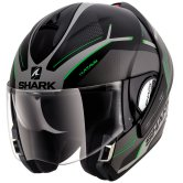 SHARK EvoLine Series3 Hataum Mat Black / Silver / Green