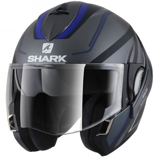Casco SHARK EvoLine Series3 Hyrium Mat Anthracite / Black / Blue