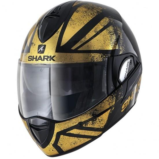 Casco SHARK EvoLine Series3 Tixer Black / Chrom / Gold