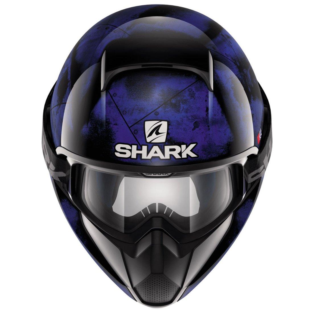 casque shark vancore flare black blue black motocard. Black Bedroom Furniture Sets. Home Design Ideas