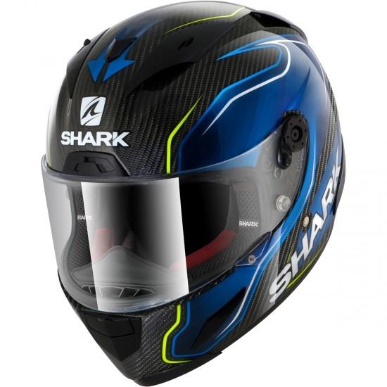 Casco SHARK Race-R Pro Carbon Replica Guintoli Carbon / Blue / Yellow