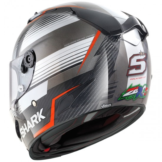 Race-R Pro Carbon Replica Zarco Malaysian GP Carbon / Red / Anthracite