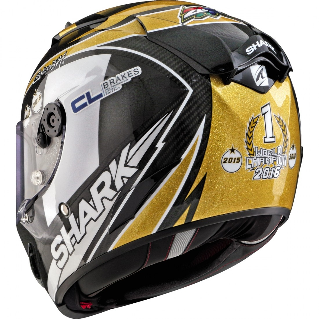 cbe2be48e0c38 SHARK Race-R Pro Carbon Replica Zarco World Champion 2016 Limited Edition  Carbon   Gold