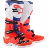 Tech 5 Red Fluo / Blue / White