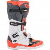 Tech 5 White / Grey / Red Fluo
