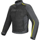 DAINESE Hydra Flux D-Dry Black / Dark Gull Gray / Yellow Fluo