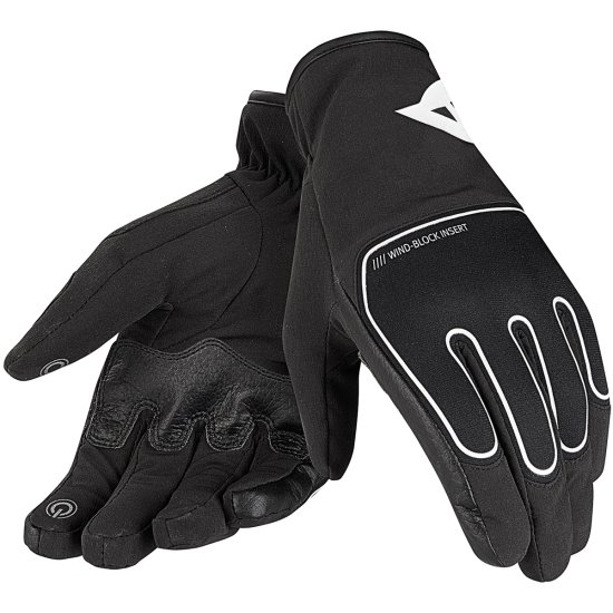 Gants DAINESE Plaza D-Dry Black / White